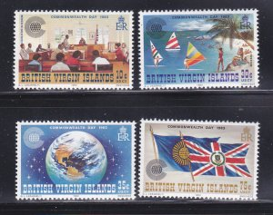 Virgin Islands 442-445 Set MNH Commonwealth Day