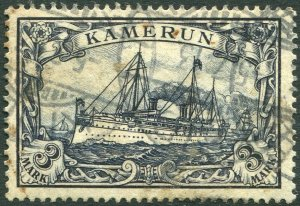 GERMAN CAMEROUN-1900 3m Violet-Blue no wmk Sg K18 V36579