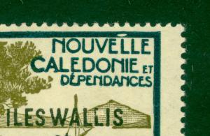 WALLIS & FUTUNA ISLANDS 1930-40 5c Pictorial WHITE DASH IN BORDER Variety Sc 47v