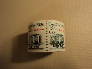 USPS Scott 2259 13.2c 1988 Coal Car 1870s Bulk Rate 200 S...