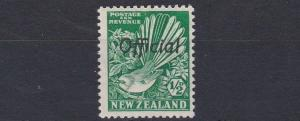 NEW ZEALAND  1936 - 61   S G  0120  1/2D   BRIGHT GREEN      MH