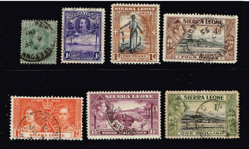 UK STAMP - Sierra Leone Stamp USED STAMP COLLECTION LOT