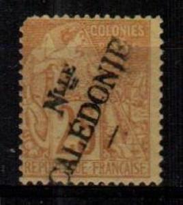 New Caledonia Scott 27 Mint NH (Catalog Value $40.00) - pulled perf