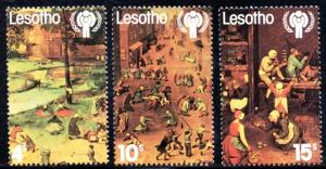 Lesotho - 1979 International Year of the Child Set MNH** SG 379-381