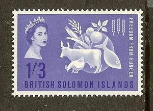 Solomon Islands, Scott #109, 1sh3p Freedom from Hunger, MLH