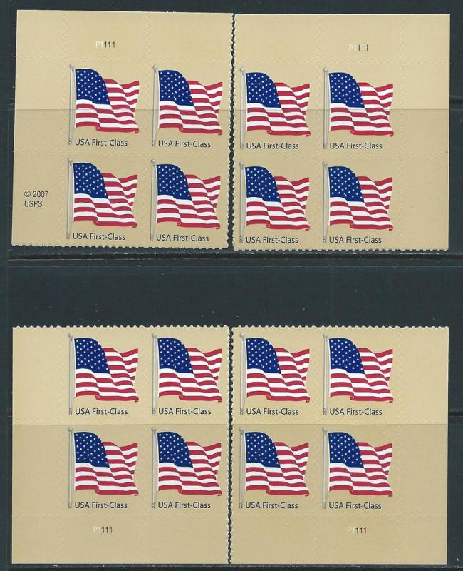 UNITED STATES SC# 4130 F-VF MNH 2007 PL#P1111 MATCH SET B/4