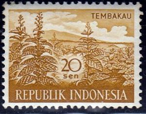 Indonesia #497 Tobacco issued in 1960. MNH