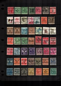 United States 49 used lot precancel precanceled