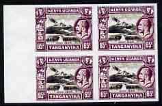 Kenya, Uganda & Tanganyika 1935 Mount Kenya KG5 65c imper...