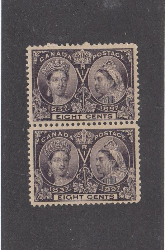 CANADA # 58 VF-MNH 1 MXLH PAIR 8cts JUBILEES CAT VALUE $800