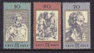 Germany DDR 1298-1300 MNH 1971 Albrecht Dürer Painter Death Anniversary Set