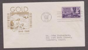 954 California House of Farnam FDC with neatly typewritten address