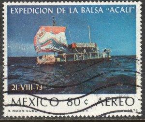 MEXICO C458 Transatlantic voyage of Acali raft USED. F-VF. (1313)