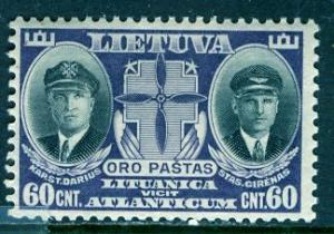 Lithuania 1934: Sc. # C81; */MH Single Stamp