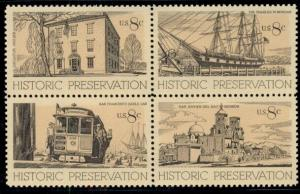 #1440-3 8¢ HISTORIC PRESERVATION LOT OF 100 MINT STAMPS, SPICE UP YOUR MAILINGS!