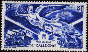 New Caledonia. 1946 8f S.G.299 Mounted Mint