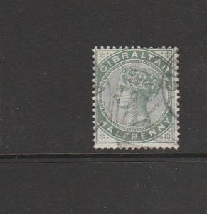 Gibraltar QV 1886/7 1/2d Used SG 8