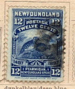 Newfoundland 1897 Early Issue Fine Used 12c. NW-11935