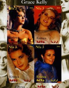 Eritrea 2003 Grace Kelly Sheet (4) Imperforated mnh.vf