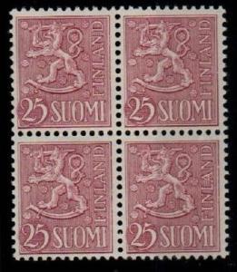 Finland Scott 322 Mint NH block (Catalog Value $52.00)