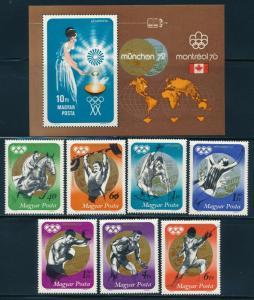 Hungary - Munich Olympic Games MNH Set #C329-36 (1972)