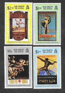 Solomon Islands 829-832 Mint NH MNH Olympics!