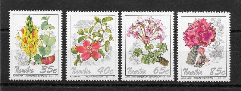 Namibia MNH 762-5 Flowers SCV 2.00