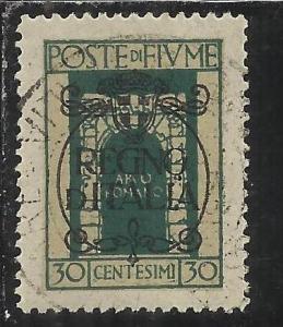 FIUME 1924 SAN VITO E SOGGETTI VARI SOPRATSAMPATO OVERPRINTED REGNO D´ITALIA...