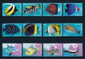 [47826] Grenada Grenadines 1997 Marine life Fish 12 Values MNH