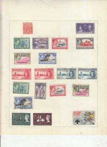 BRITISH SOLOMON ISLANDS 2 ALBUM PAGES OF MINT/USED VALUES/SETS