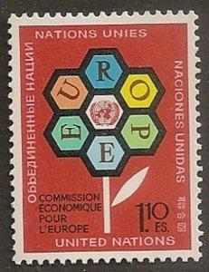 United Nations 27 Geneva Economic Commission for Europe single MNH 1972