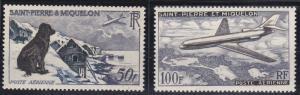 St. Pierre and Miquelon #C21-C22 MNH CV$73.50 Dog Village Caravelle [136668]