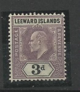 Leeward Is, 1902 Sg 24, 3d Dull Purple & Black, Mounted Mint. {C/W 343}.