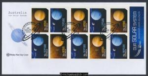 22-Sep-2015 Australia Our Solar System Booklet Wesley First Day Cover