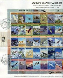 MARSHALL ISLANDS 2004 WORLD'S GREATEST AIRCRAFT  FD SHOW CANCEL SHOW CARD