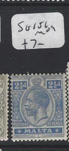 MALTA (P2205B)  KGV  2 1/2D  SG 101   MOG