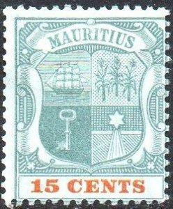 Mauritius 190015c  green and orange MH
