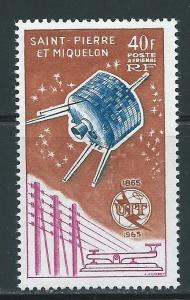 St. Pierre and Miquelon #C29 MNH CV$24.00 ITU Satellite [73940]