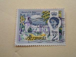 BERMUDA STAMP. USED  NO HINGE MARKS.