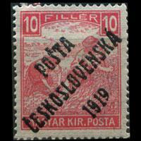 CZECHOSLOVAKIA 1919 - Scott# B71 Farmer Opt. 10f LH