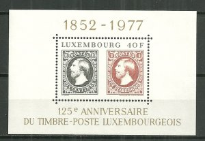 1977 Luxembourg 125th Anniversary of first stamp issue S/S