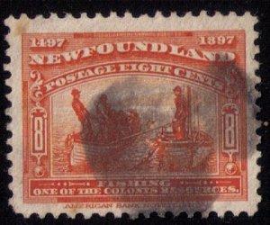 Newfoundland Sc 67 Red Org Used VF