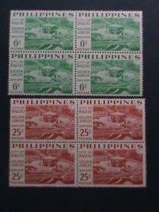 PHILIPPINES-1959-SC# 804-5- 50TH ANNIVERSARY-  CITY OF BAGUIO-MNH BLOCKS- VF