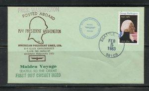 US PRESIDENT WASHINGTON 02/05/1983 TO SEATLE AS SHOWN (30)