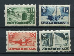 FINLAND 1938 VERY GOOD POSTAL SERVICES SET 215-218 FACIT 217-220 PERFECT MNH