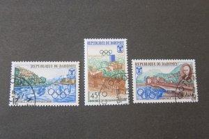 Dahomey 1967 Sc 1241-3 Olympic CTO set FU