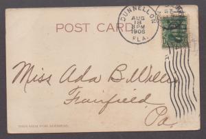 **US Florida Advertsing Post Card, 1906 J.S. Williams Jail, Dunnellon, FL