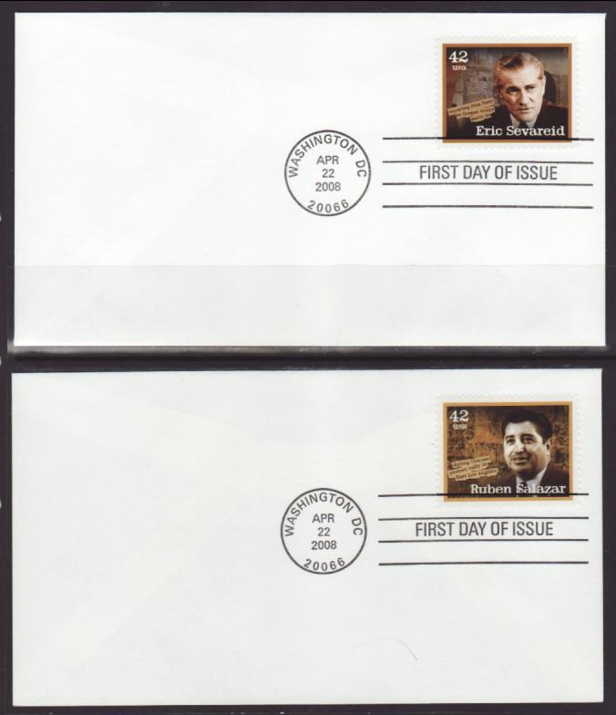 US 4248-4252 Journalists Uncacheted 2008 S/5 U/A FDC
