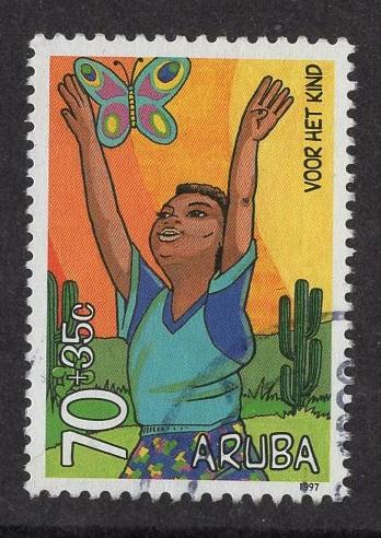 Aruba   #B49   used  1997 child welfare 70c