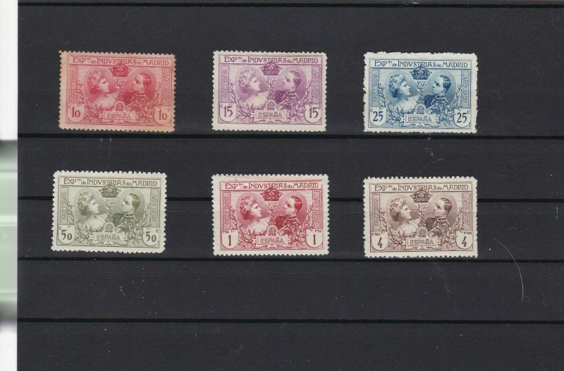 spain 1907 industrial exposition  stamps ref r9343